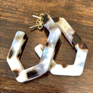 Madewell Geometric Hoop Earrings